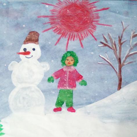 """""""Во дворе полно снежка, я слепил снеговика"""""""
