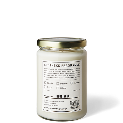 Blue Hour - Organic Soy Wax Glass Jar Candle