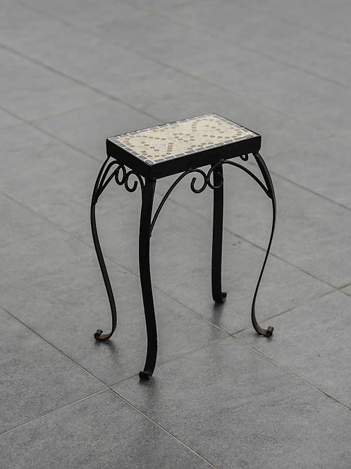 Solid Metal Flower Stand with Tile Top