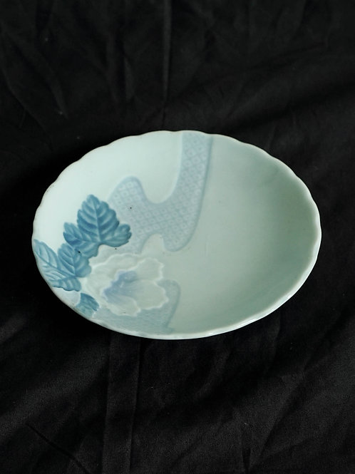 Light Blue Carved Plate