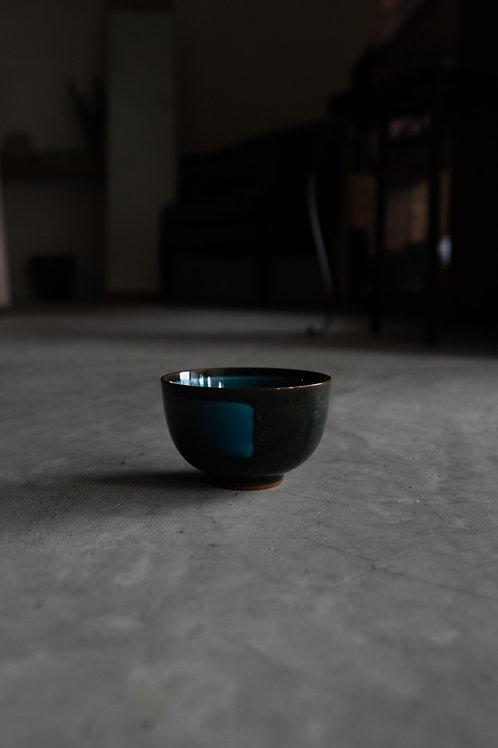 Vintage Blue Glazed Cup 110016