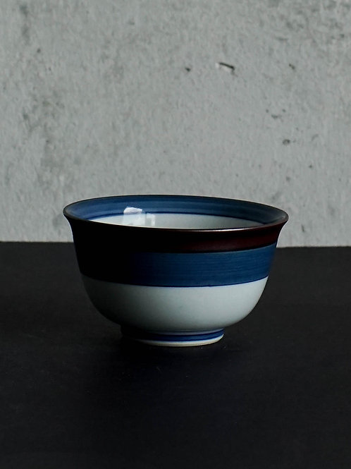 Small Stripe Printed Arita Bowl