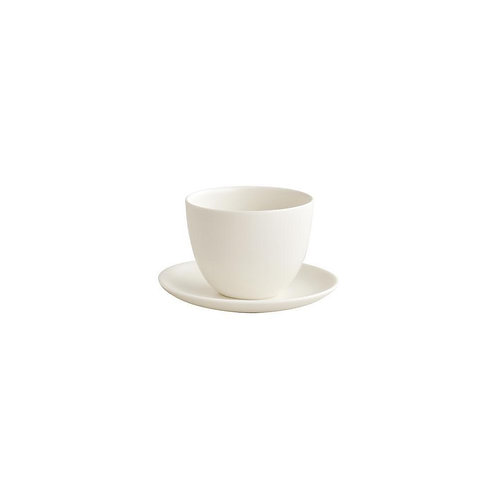 Pebble White Tea Cup with Saucer