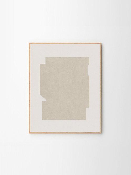 """""""BAUHAUS BEIGE"""" by JULIA HALLSTRÖM HJORT (40cm x 50cm)"""