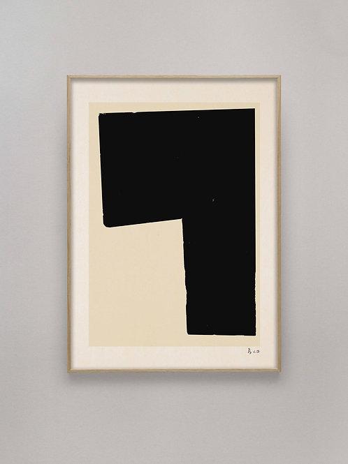Black Object 02, Alium, 50cm x 70cm