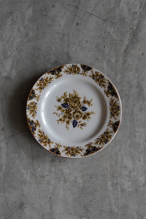 Vintage Floral Printed Ceramic Plate