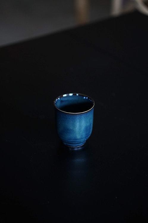 Vintage Blue Glazed Tea Cup