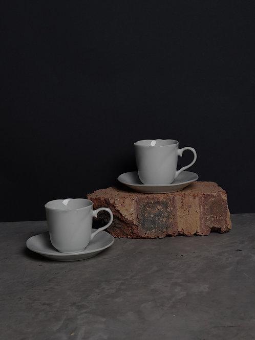 White Ceramic Tea Cup Set (Set of 2)