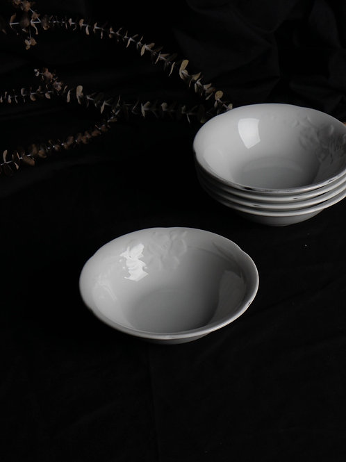 Yves Saint Laurent by Yamaka While Porcelain Carved Bowl Set 110013