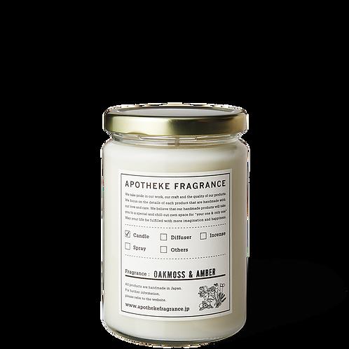 Oakmoss & Amber - Organic Soy Wax Glass Jar Candle