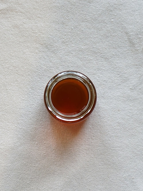 Organic Raw Honey in Glass Jar