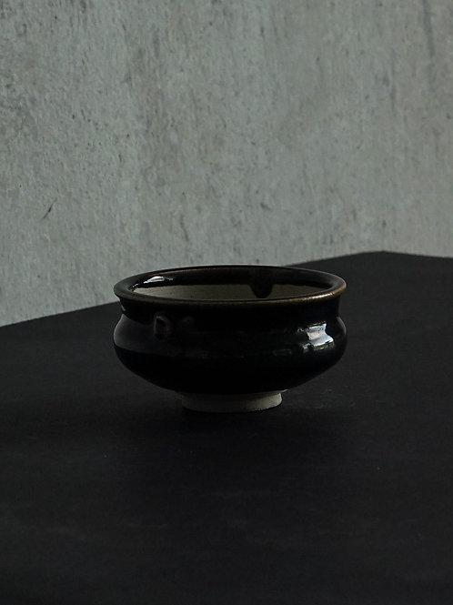 Black Glazed Sake Cup