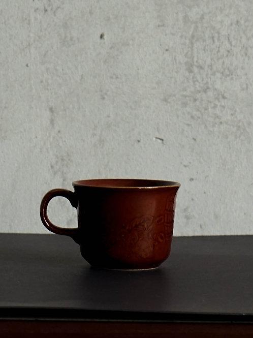 Handprinted Brown Coffee Cup