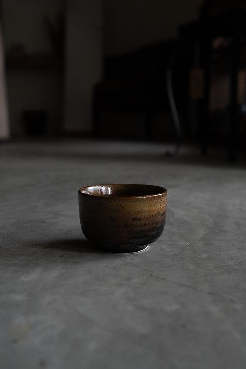Minoyaki Glazed Dark Brown Cup 110020