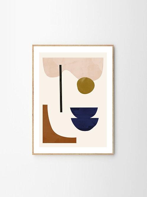 """SHAPESCAPE 08"" by JAN SKACELIK (30cm x40cm)"