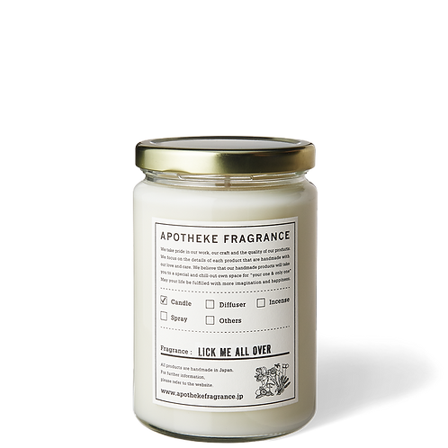 Lick Me All Over - Organic Soy Wax Glass Jar Candle