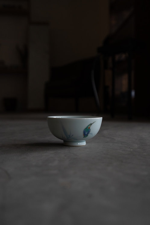 Vintage Handprinted Ceramic Bowl 110008