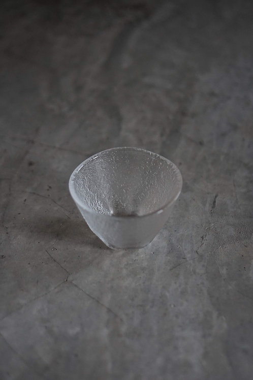Dessert Glass Bowl Set with Raised Texture