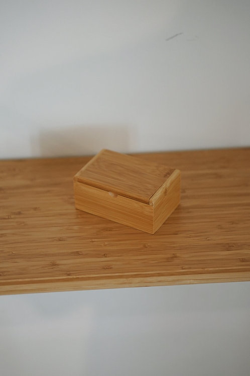 Bamboo cotton bud holder