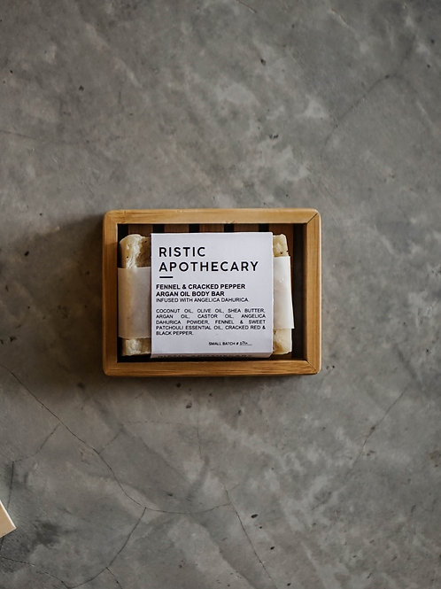 Ristic Apothecary Fennel & Cracked Pepper Soap Bar