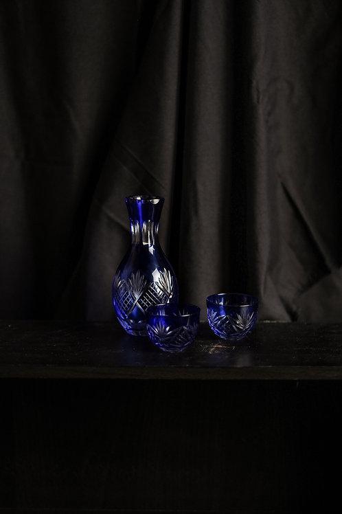 Edo Kiriko Crystal Glass Sake Set