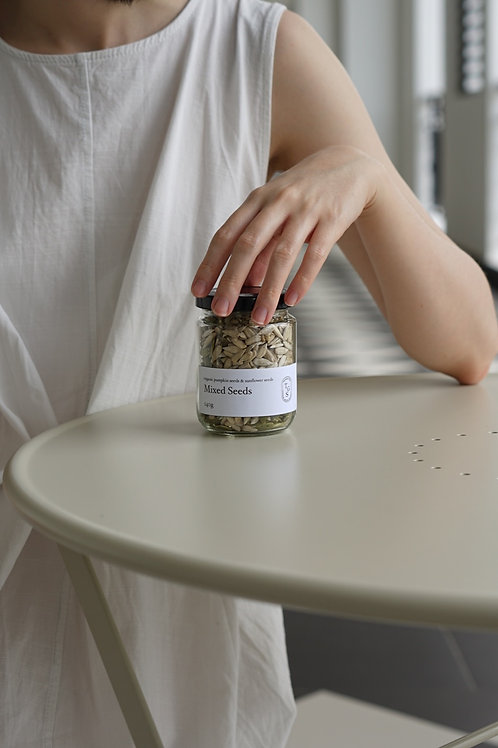 Organic Mixed Seeds in Glass Jar (150g)