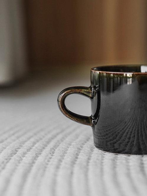 Black Glazed Ceramic Coffee Mug