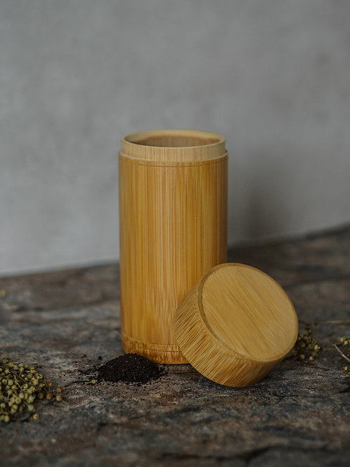 Bamboo Tea Leaves Container (Large)