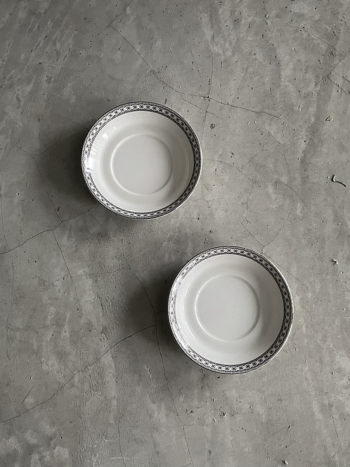 Vintage Wedgwood Small Plate with silver lining( Set of 2)