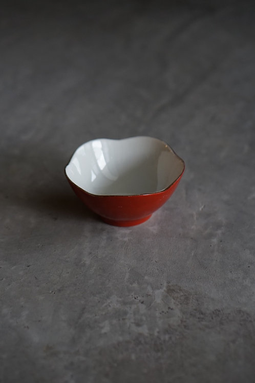 Vintage Red Lotus Bowl