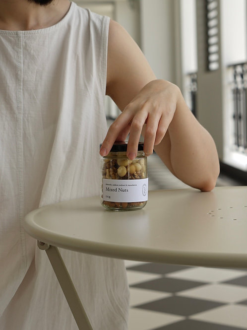 Natural Mixed Nuts in Glass Jar (120g)