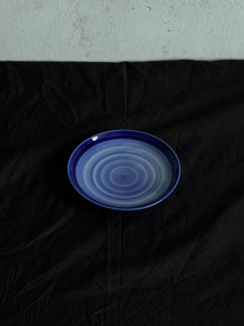 Blue Spiral Ceramic Plate