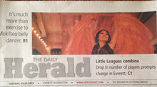 It's much more than exercise ... front page of The Daily Herald