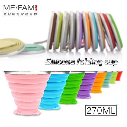 Collapsible Silicone Party Cup With Lid