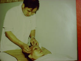 Treating headache patient in China