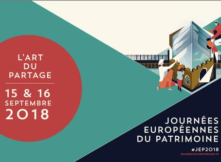 Programmation des Journées Européennes du Patrimoine 2018