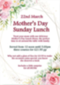 mothers day sunday lunch menu the coach