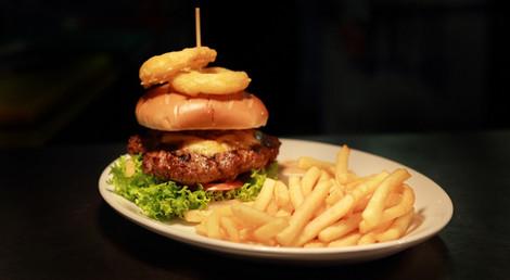 Beef burger The coach and horses midgham menu food a