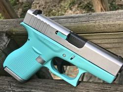 Cerakote Robin Egg Blue Handgun