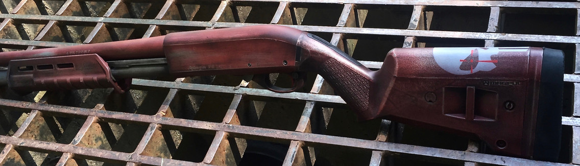 Cerakote Distressed Shotgun