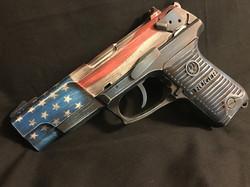 Cerakote American Flag Handgun