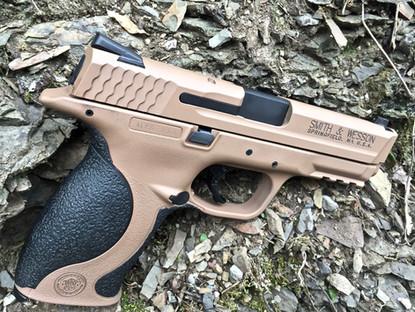 Cerakote Desert Handgun