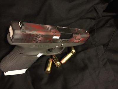 Cerakote Red Hexagon Handgun