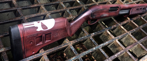 Cerakote Distressed Punisher Shotgun