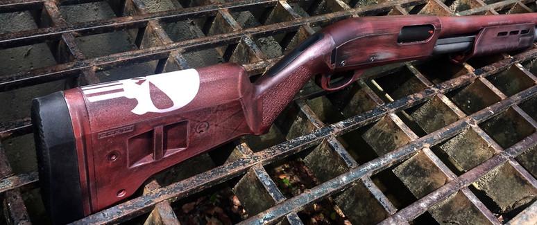 Cerakote Distressed Punisher Shotgun