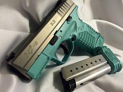 Cerakote Teal Lower Handgun