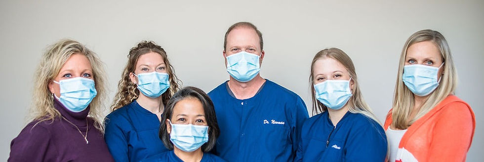 Dr. Wade Newman and team at eagle valley family dentistry in bellefonte, pa