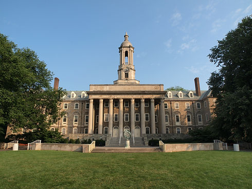 Old Main building at Penn State Universi