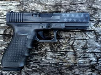 Cerakote Black Stars and Stripes Handgun