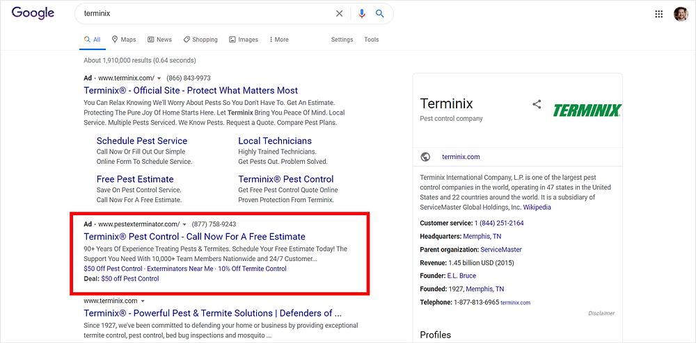 terminix brand example ad